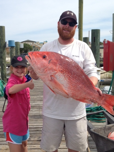 Family red snapper fishing trip for Deep sea fishing mobile al